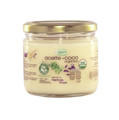 Aceite coco hierbas finas 250